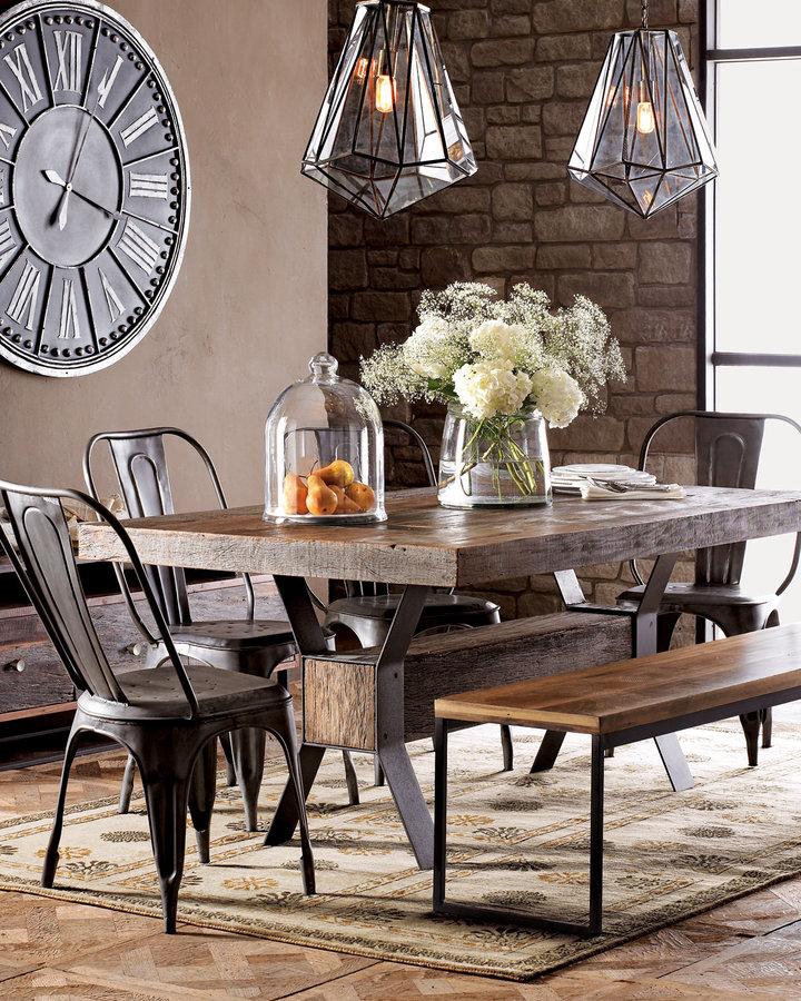 Industrial Style Dining Room Tables: Créer Un Décor De Style Industriel Et Chaleureux