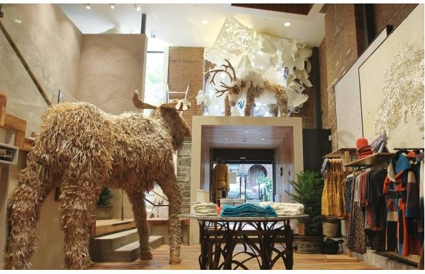 The Montreal Store Is Spectacular Three Storeys Of Its Retro Romantic Clothes And Home Decor Presided Over By A Giant Moose Housed In Handsome Historic
