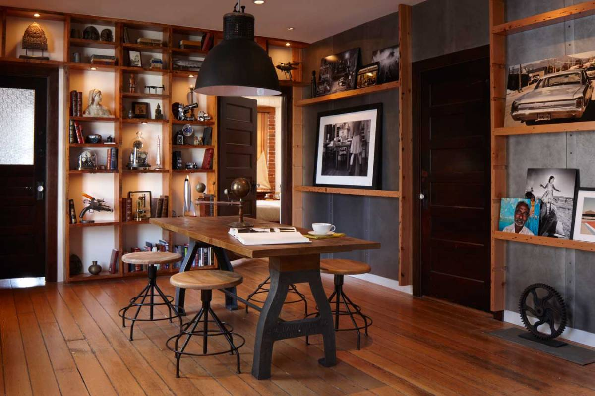 Create a warm industrial living space | AMAZING DESIGN FOR LESS