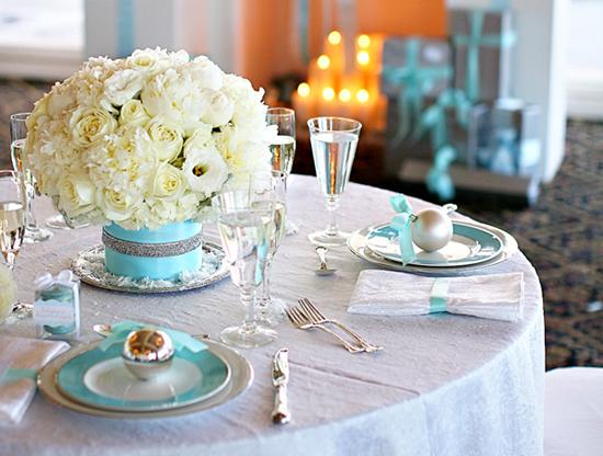 elegant tiffany blue christmas decor