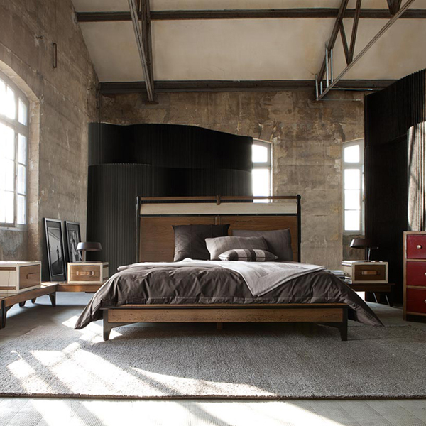 Create a warm industrial living space amazing design for less for Style de chambre adulte