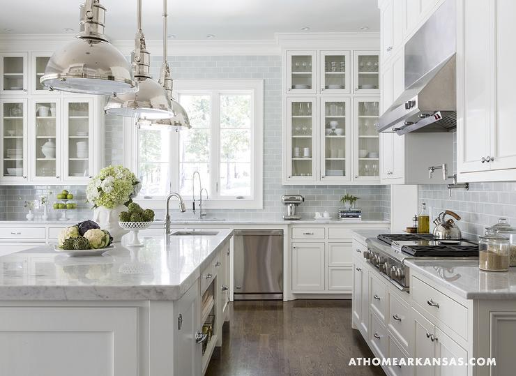 White kitchen inspiration amazing design for less for White and blue kitchen ideas
