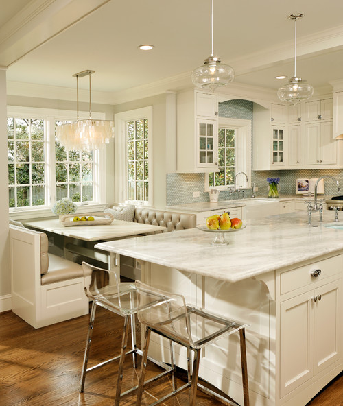 White kitchen inspiration amazing design for less for Traditional kitchen design