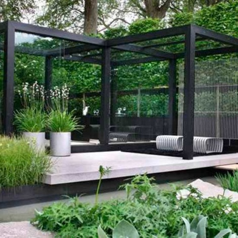 6-modern-garden-ideas-Elegant-outdoor-dining-area